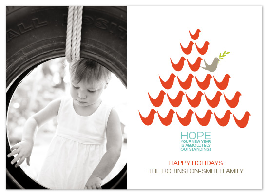 holiday photo cards - outstanding holiday by Linda Loiewski