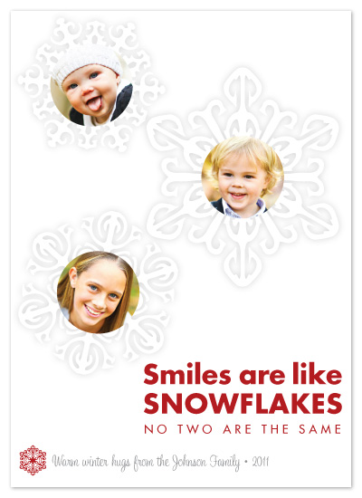 holiday photo cards - Smiles are like Snowflakes by Ellie B