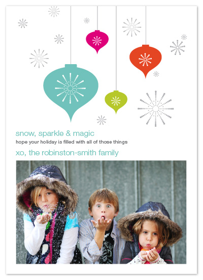 holiday photo cards - snow, sparkle & magic by Linda Loiewski