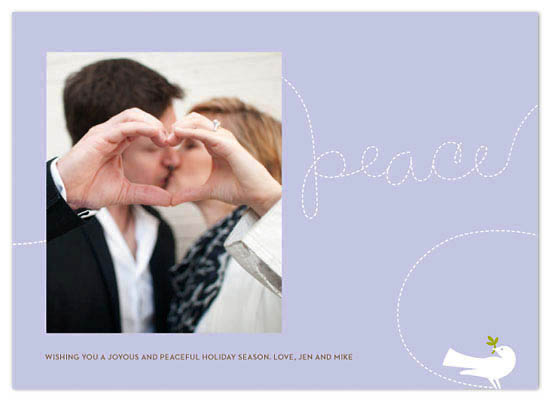 holiday photo cards - peaceful dove by Greetings