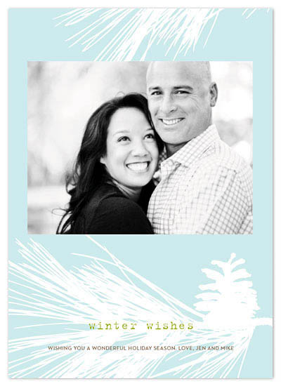 holiday photo cards - evergreen winter wishes by Greetings