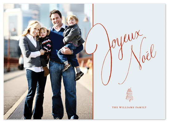 holiday photo cards - Tres Joyeux by Push Papers