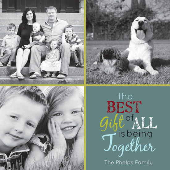 holiday photo cards - Best Gift by MJ Phelps