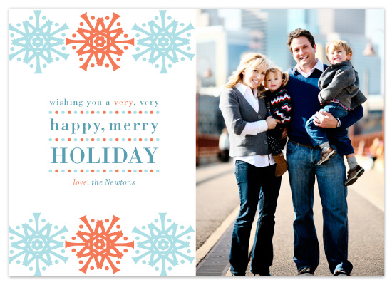 holiday photo cards - Very Very Happy Merry by Egg City Arts