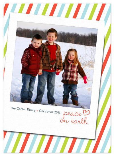 holiday photo cards - Polaroid Peace on Earth by Egg City Arts