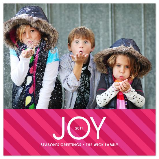holiday photo cards - Bright Stripe Joy by Amy Sheridan