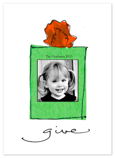 holiday photo cards - Give by Tate Design