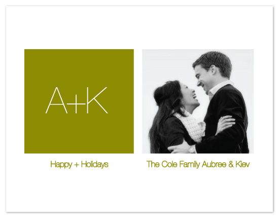 holiday photo cards - A + K by olive paperie