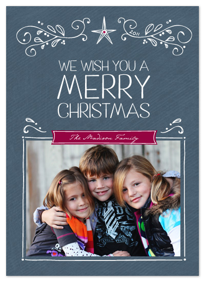 holiday photo cards - Merry Christmas Sketches by Amy Sheridan