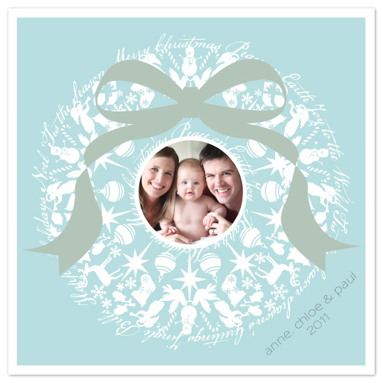 holiday photo cards - Holiday Icon Wreath by Kristin Taddey