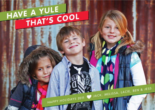 holiday photo cards - Have a Yule That's Cool Hip Kids by Liddabits