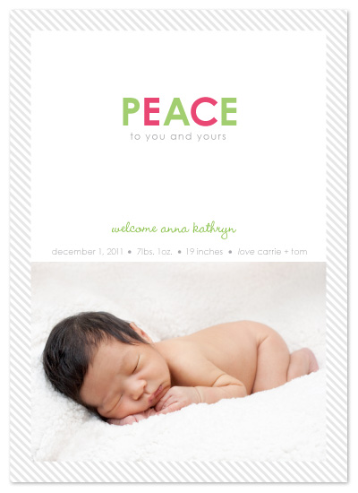 holiday photo cards - Peaceful Baby by Amy Sheridan