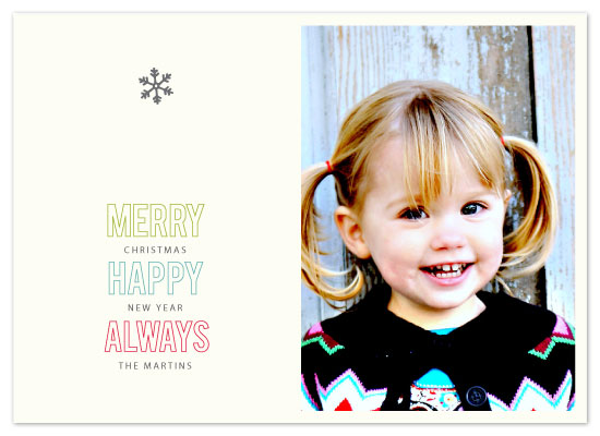 holiday photo cards - merry happy always by INKandIRON