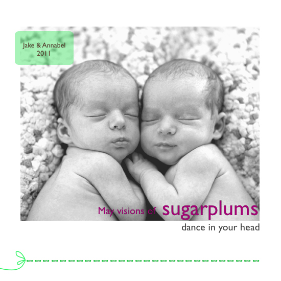holiday photo cards - Graphic Sugar Plum by Lisa Sunday Rinella
