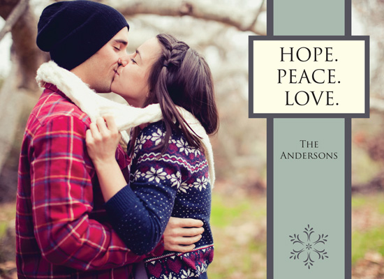 holiday photo cards - Hope. Peace. Love by MJ Phelps