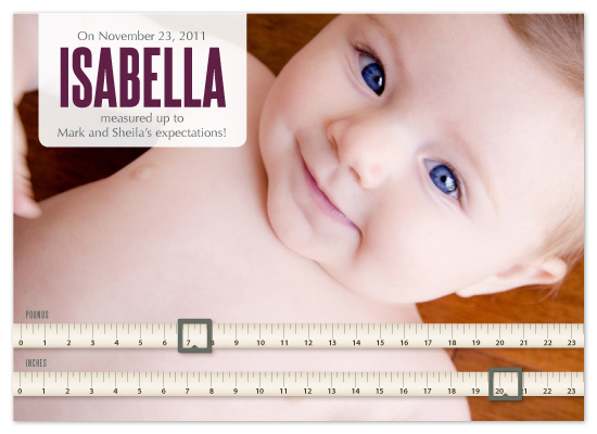 birth announcements - Baby Measured Up by Jodi Baglien Sparkes