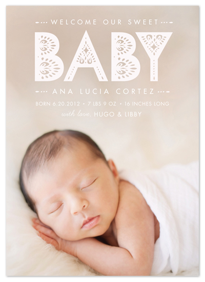 birth announcements - Lacy Paper by Susie Allen