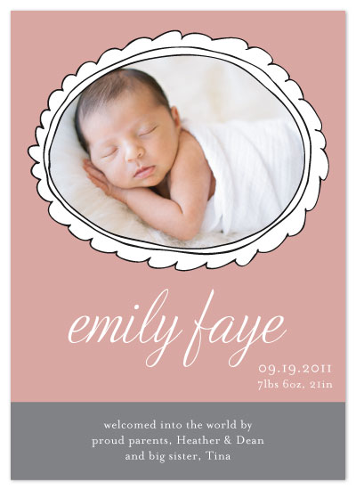 birth announcements - framed by Kelly Preusser