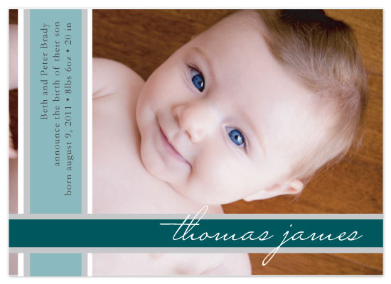 birth announcements - stripes by Kelly Preusser