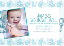 Baby boy announcement by Sarah Palmer