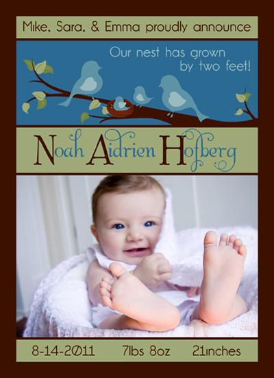 birth announcements - Tweet lil family  by Gretchen Jahn Bertram