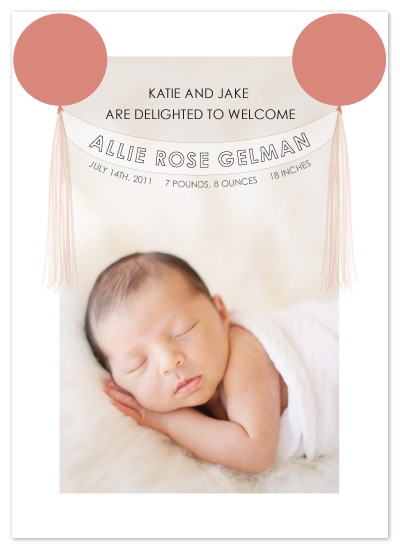 birth announcements - Balloon Banner  by Ally Fomont