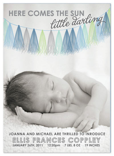 birth announcements - Fringe Garland Announcement by Ally Fomont