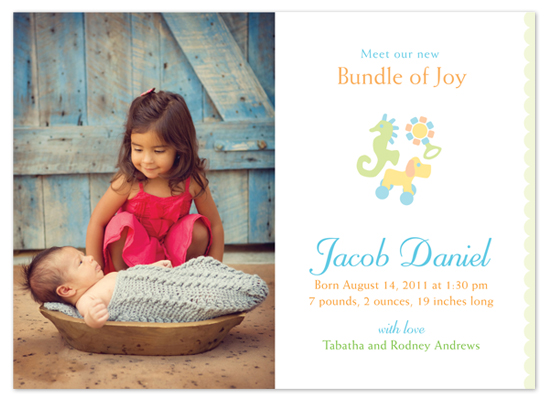 birth announcements - Bundle of Joy by Marcia Copeland