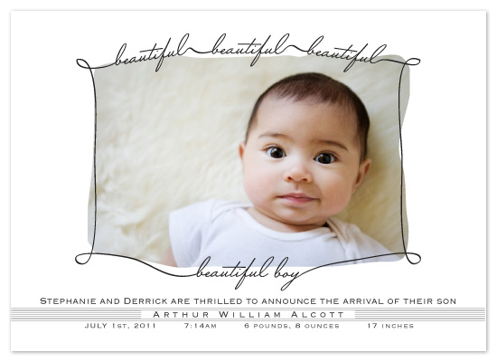 birth announcements - Beautiful Boy Announcement by Ally Fomont