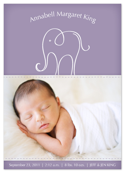 birth announcements - Lucky Elephant by Jodi Baglien Sparkes