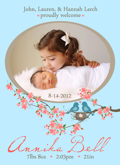 birth announcements - Eggstra Special Addition To Our Nest! by Gretchen Jahn Bertram