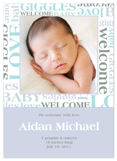 birth announcements - Word Collage by Sam F.