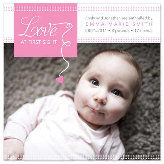 birth announcements - Love at first sight by Ana Gonzalez