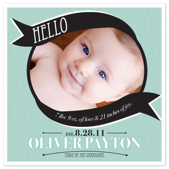 birth announcements - Banner of love and joy by Potluck Design