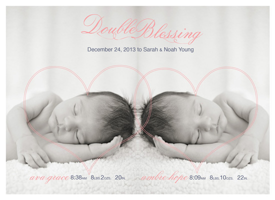 birth announcements - Double Blessing by that girl Shelley