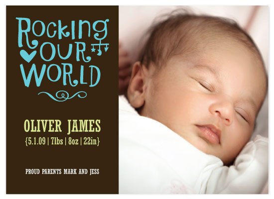 birth announcements - Rocking Our World by Vicky Barone