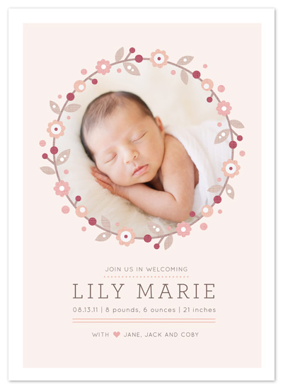 birth announcements - Simple Wreath by Kristen Smith