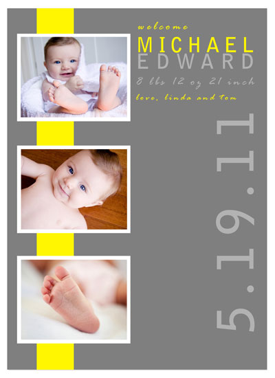 birth announcements - yellow baby banner by Tenille Jordan