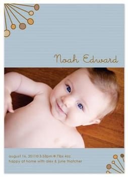 Deco Sunburst Birth Announcement