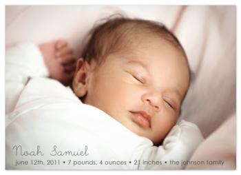Simply Sleepy Birth Announcement