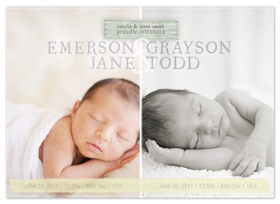 birth announcements - Held Together with Love by east and twelve