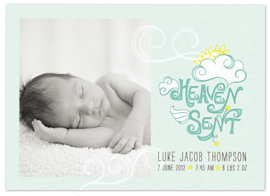 birth announcements - Heaven Sent by Edub Graphic Design