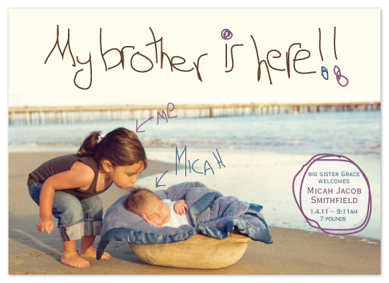 birth announcements - sibling love by toast events + design
