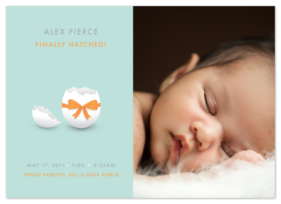 birth announcements - Hatched Egg Shell Baby by Jacqueline Rivera
