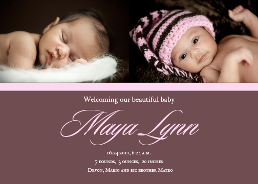 birth announcements - Beautiful Baby by Sharon Hoffman