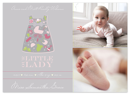 birth announcements - Out Little Lady Birth Announcement by hatched prints