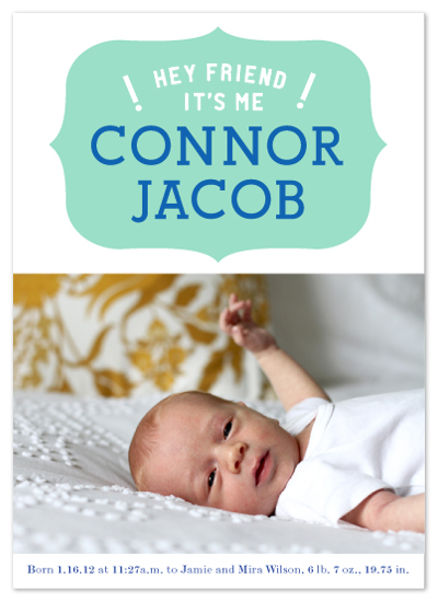 birth announcements - finally we meet by campbell and co.