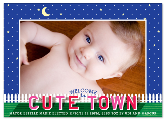 birth announcements - cute town by campbell and co.