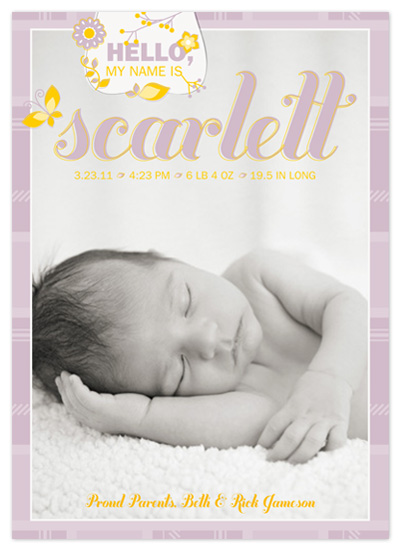 birth announcements - All Things Nice Birth Announcement by hatched prints