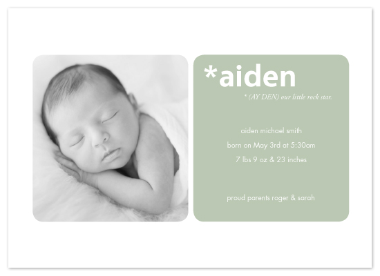 birth announcements - Meaning of a Name by MelStudio